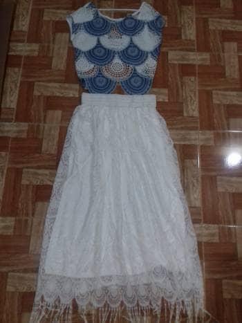 Foto Carousel Producto: Conjunto de crop top y maxi falda GoTrendier