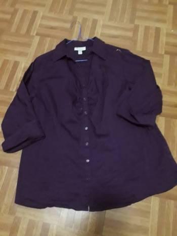 Foto Carousel Producto: Blusa morada manga tres cuartos X GoTrendier