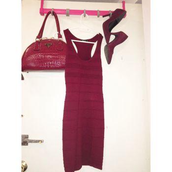 Foto Carousel Producto: Vestido corto vino tinto LOB GoTrendier