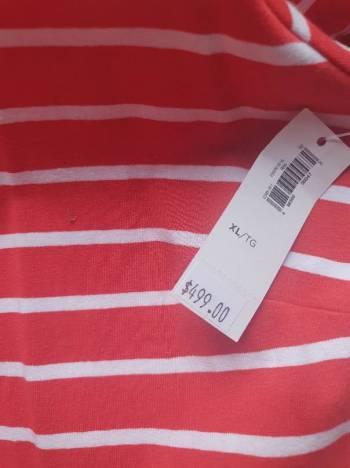 Foto Carousel Producto: Vestido rojo rayas blancas GoTrendier