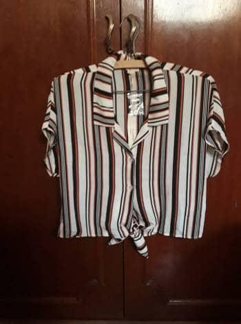 Foto Carousel Producto: Camisa con rayas de manga corta GoTrendier