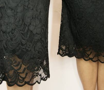 Foto Carousel Producto: Vestido corto encaje negro GoTrendier