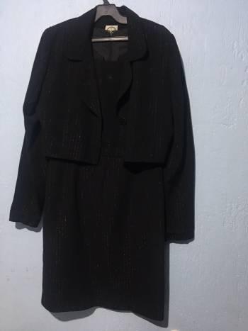 Foto Carousel Producto: Vestido+saco tipo torera de noche corto negro GoTrendier