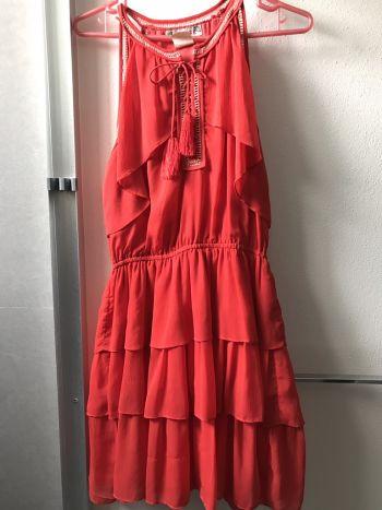Foto Carousel Producto: Vestido IVE Cocktail Naranja GoTrendier