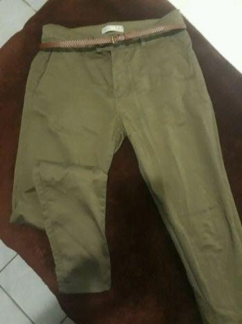 Foto Carousel Producto: Pantalón corte chino verde militar GoTrendier