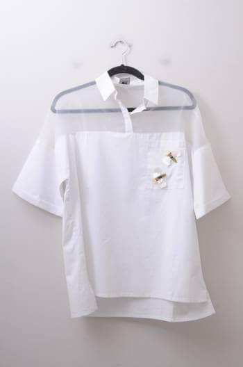 Foto Carousel Producto: Camisa con transparencia GoTrendier