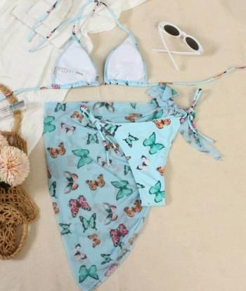 Foto Carousel Producto: Bikini con pareo 3 pzs mariposas GoTrendier