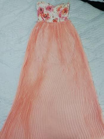 Foto Carousel Producto: Vestido largo rosa claro GoTrendier