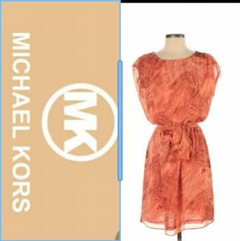 Foto Carousel Producto: Vestido naranja marmoleado Michael Kors GoTrendier