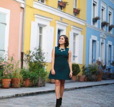 Foto Carousel Producto: Vestido Verde Esmeralda Corto GoTrendier