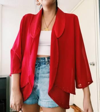 Foto Carousel Producto: Saco vintage rojo  GoTrendier