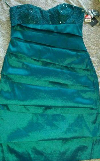 Foto Carousel Producto: Vestido Azul Metálico   GoTrendier
