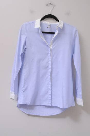 Foto Carousel Producto: Camisa azul con blanco GoTrendier