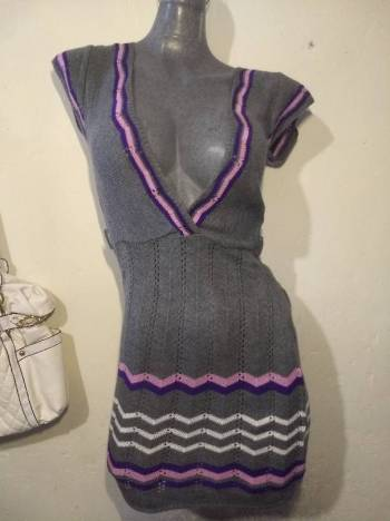 Foto Carousel Producto: Blusón $100 gris tejido sweater project GoTrendier