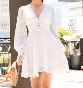 Foto Carousel Producto: Vestido blanco bautizo boda GoTrendier