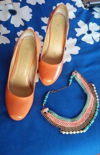 Foto Carousel Producto: Zapatillas de charol color naranjas GoTrendier