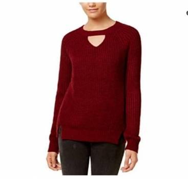 Foto Carousel Producto: Suéter de punto vino GoTrendier