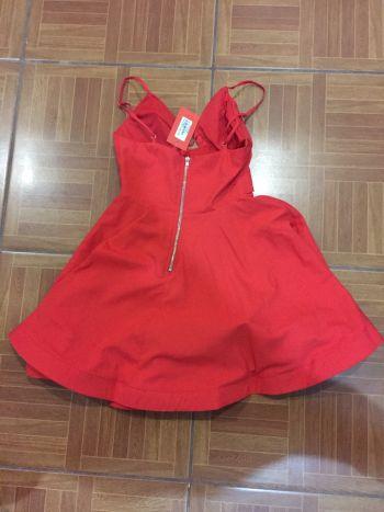Foto Carousel Producto: Vestido coñor rojo-naranja GoTrendier