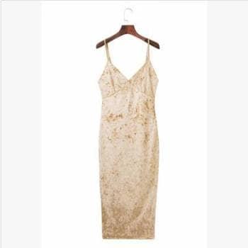 Foto Carousel Producto: Vestido Terciopelo Midi GoTrendier