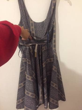 Foto Carousel Producto: Vestido corto estampado azul/beigeNUEVO GoTrendier
