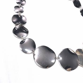 Foto Carousel Producto: Collar plateado super brillante GoTrendier