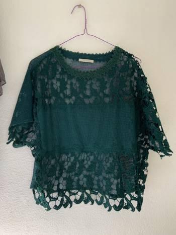 Foto Carousel Producto: Blusa Zara verde. GoTrendier