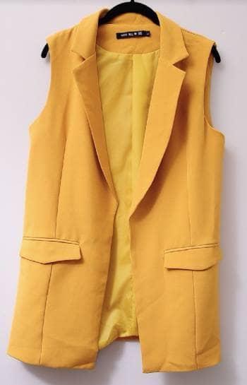 Foto Carousel Producto: Chaleco color mostaza GoTrendier