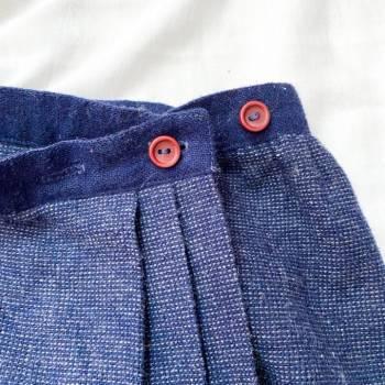 Foto Carousel Producto: Falda midi azul marino GoTrendier