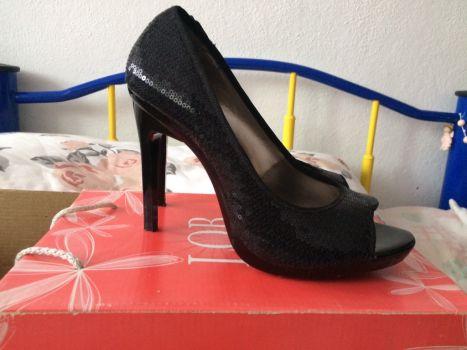 Foto Carousel Producto: Zapatos LOB lentejuela negra 5 GoTrendier