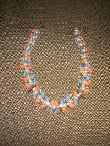 Foto Carousel Producto: Collar azul y naranja  GoTrendier
