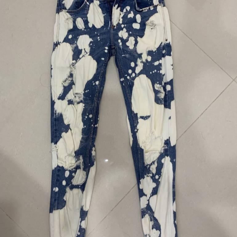 Jeans Manchados De Zara De Segunda Mano Gotrendier