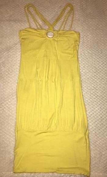 Foto Carousel Producto: Vestido tiras cruzadas holgado de cintura GoTrendier