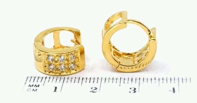 Foto Carousel Producto: Huggie de chapa de oro GoTrendier