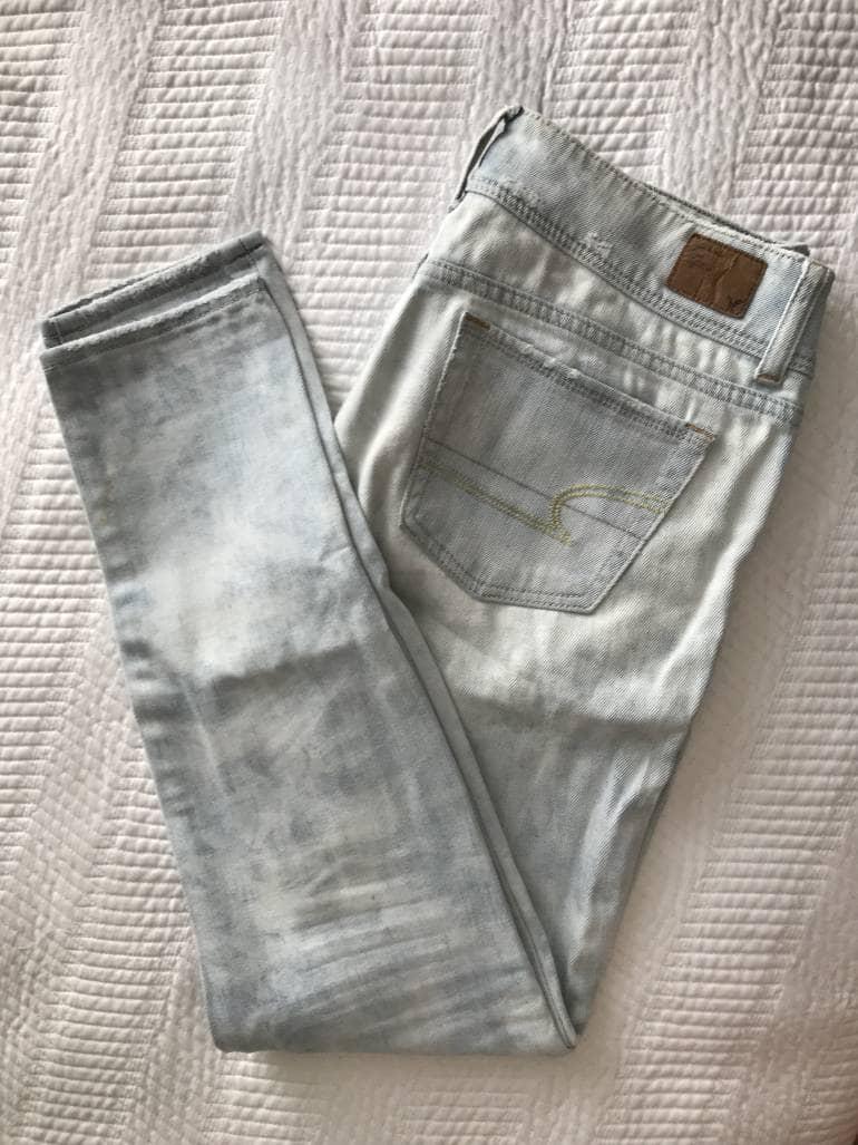 Jeans American Eagle Mujer Skinny Rotos De American Eagle Outfitters De Segunda Mano Gotrendier