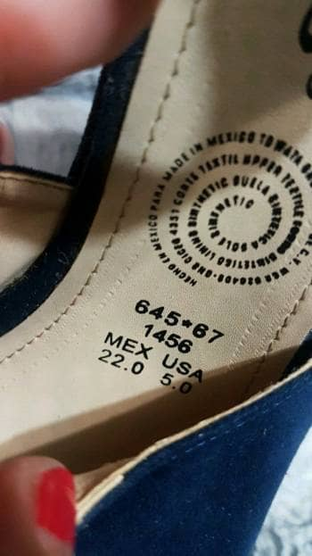 Foto Carousel Producto: Par de zapatos de plataforma azul marino GoTrendier