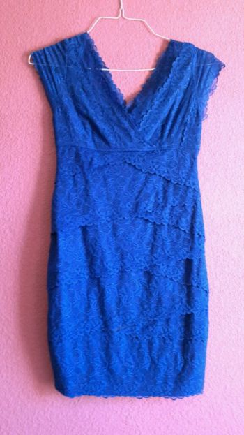 Foto Carousel Producto: Vestido de fiesta de encaje azul rey GoTrendier