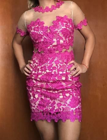 Foto Carousel Producto: Vestido cóctel rosa GoTrendier