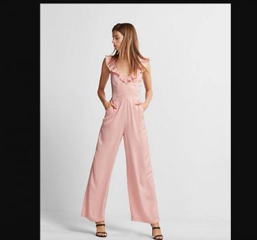 Foto Carousel Producto: Pink Wide Leg Romper GoTrendier