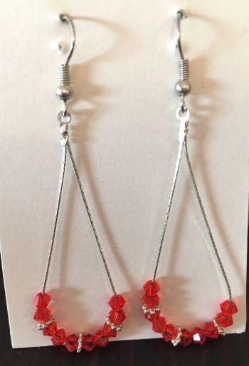 Foto Carousel Producto: Aretes color rojo GoTrendier