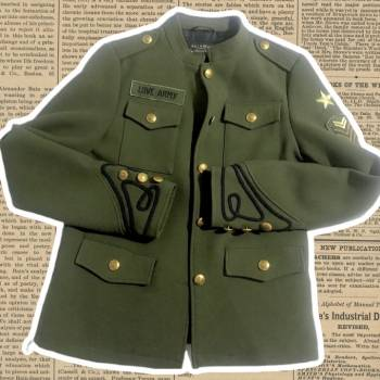 Foto Carousel Producto: Chamarra verde militar parches GoTrendier