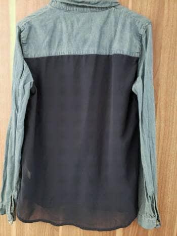 Foto Carousel Producto: Camisa mezclilla con gasa GoTrendier