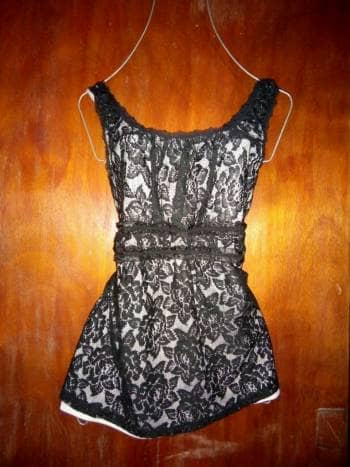 Foto Carousel Producto: Blusa tipo encaje negro con blanco GoTrendier