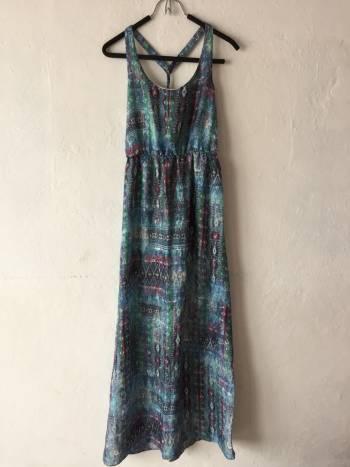 Foto Carousel Producto: Vestido azul largo Bershka GoTrendier
