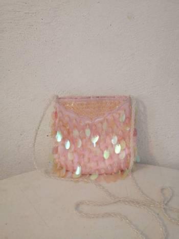Foto Carousel Producto: Bolsa de lentejuelas rosas  GoTrendier