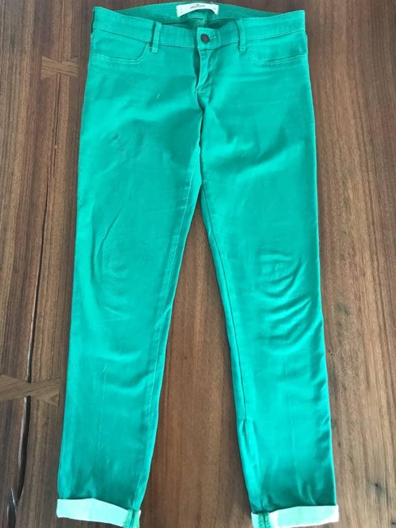 Jeans Hollister Verdes De Mujer De Segunda Mano Gotrendier