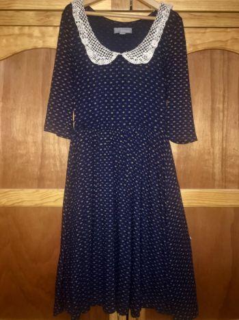 Foto Carousel Producto: Vestido azul con cuello GoTrendier