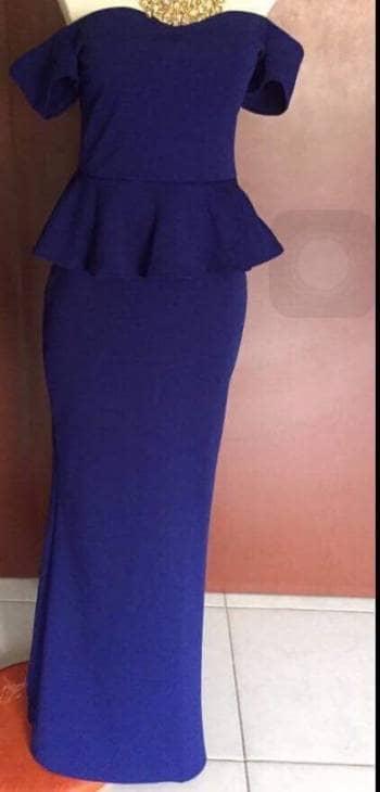 Foto Carousel Producto: Vestido largo azul GoTrendier