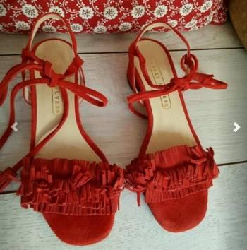 Foto Carousel Producto: Apartadas no comprar de Piel Rojas con Flecos GoTrendier