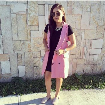 Foto Carousel Producto: Blazer/Dress Rosa Claro GoTrendier