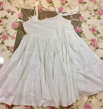 Foto Carousel Producto: Vestido blanco corto de tirantes GoTrendier